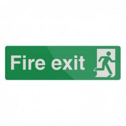 Pancarte « Fire Exit »...