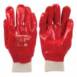 Gants PVC rouges