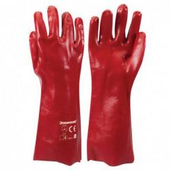 Gants en PVC rouges -...