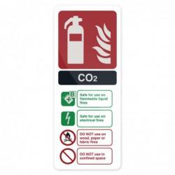 """Pancarte """"Extincteur au CO2..."""