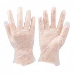 100 gants vinyles jetables
