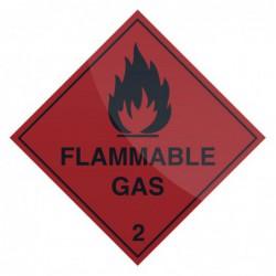"""Pancarte """"Gaz inflammable""""..."""