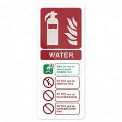 """Pancarte """"Extincteur à eau..."""